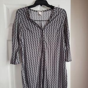 H&M Black & White Shirt Dress Sz S